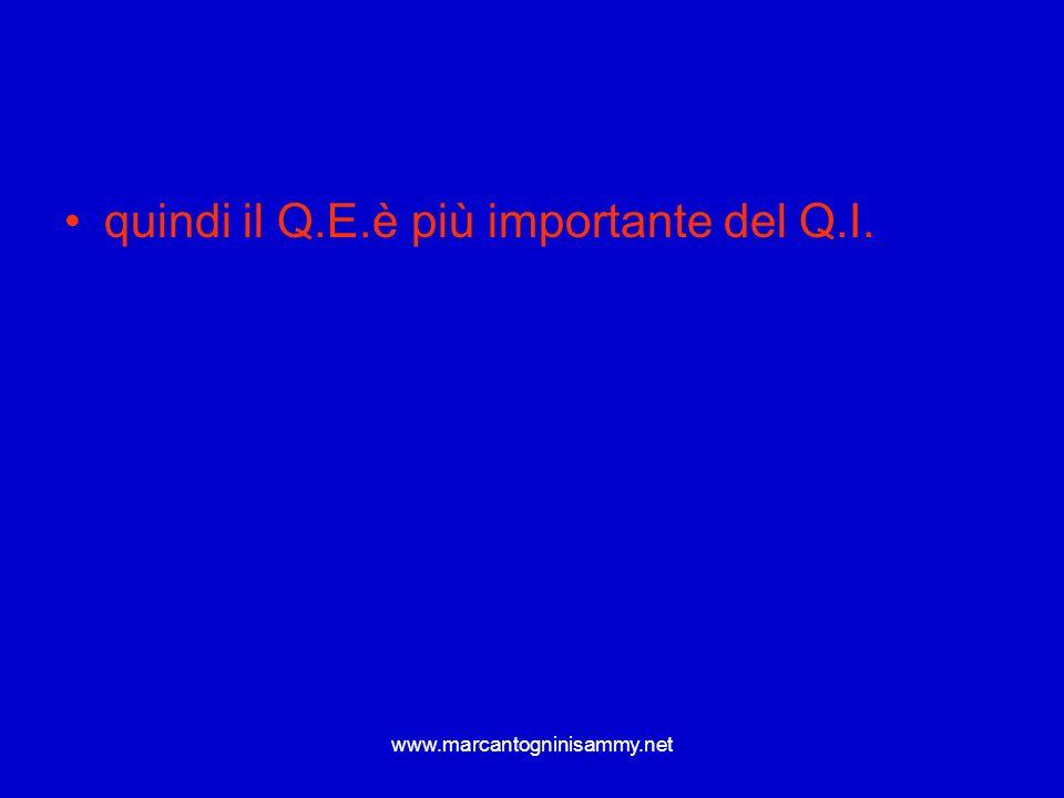 www.marcantogninisammy.net quindi il Q.E.è più importante del Q.I.