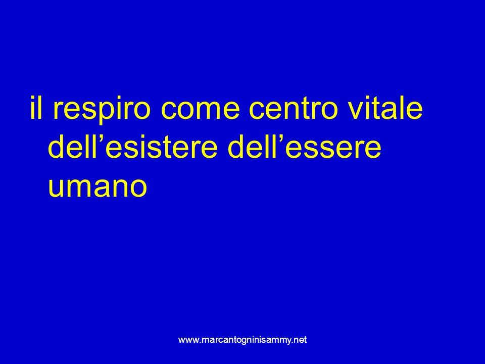 www.marcantogninisammy.net il respiro come centro vitale dellesistere dellessere umano