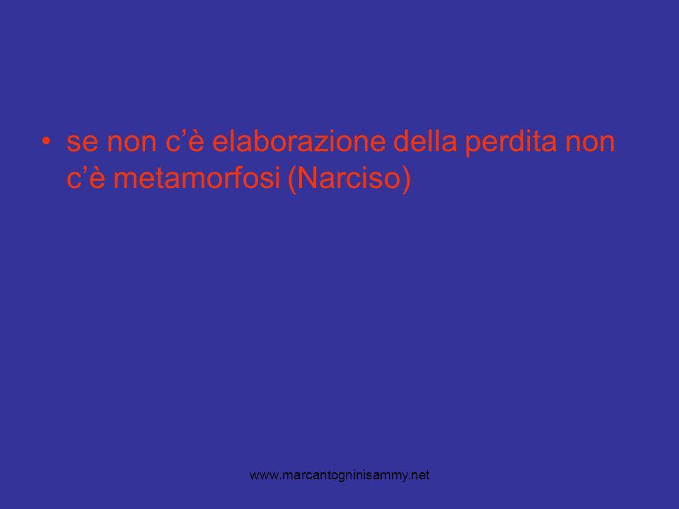 www.marcantogninisammy.net se non cè elaborazione della perdita non cè metamorfosi (Narciso)