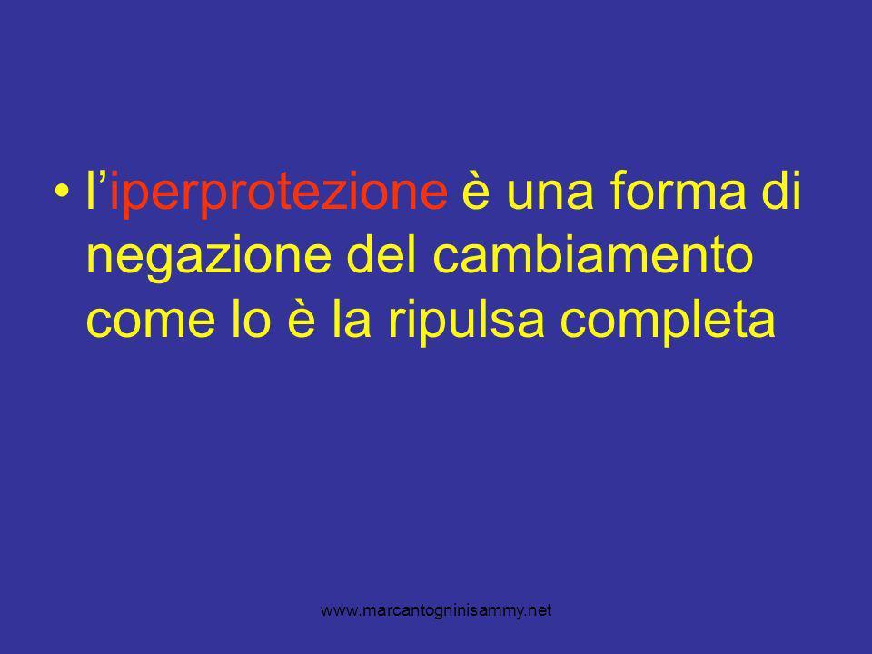 www.marcantogninisammy.net liperprotezione è una forma di negazione del cambiamento come lo è la ripulsa completa