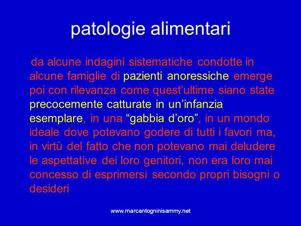 www.marcantogninisammy.net patologie alimentari da alcune indagini sistematiche condotte in alcune famiglie di pazienti anoressiche emerge poi con ril