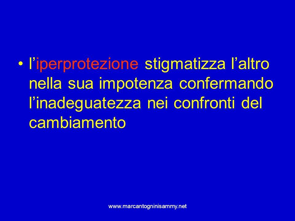 www.marcantogninisammy.net liperprotezione stigmatizza laltro nella sua impotenza confermando linadeguatezza nei confronti del cambiamento