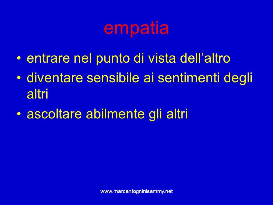 www.marcantogninisammy.net empatia entrare nel punto di vista dellaltro diventare sensibile ai sentimenti degli altri ascoltare abilmente gli altri