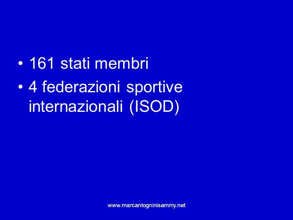 www.marcantogninisammy.net sistemi di classificazione Natura e gravità della disabilità dellatleta Capacità di svolgere compiti associati allo sport Prestazioni precedenti