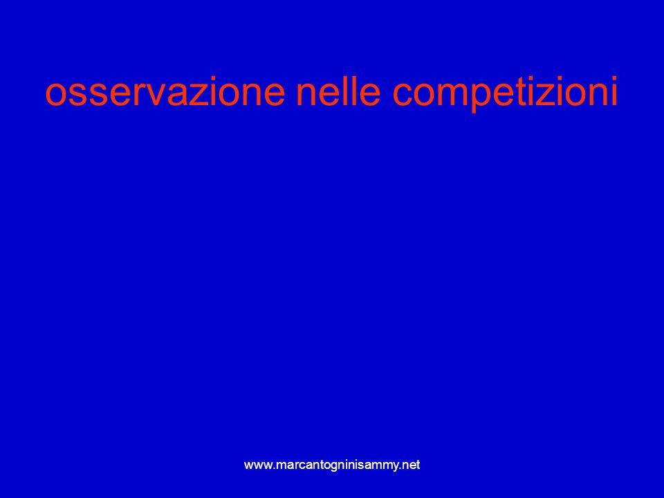 www.marcantogninisammy.net osservazione nelle competizioni