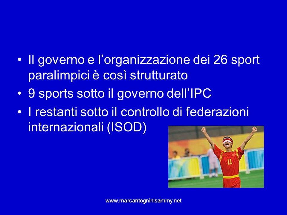 www.marcantogninisammy.net esempio del basket in carrozzella vi sono 5 classi principali di disabilità che corrispondono a punteggi.