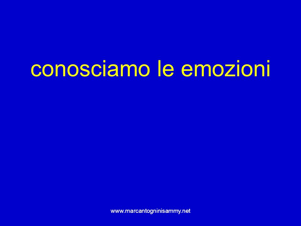 www.marcantogninisammy.net conosciamo le emozioni