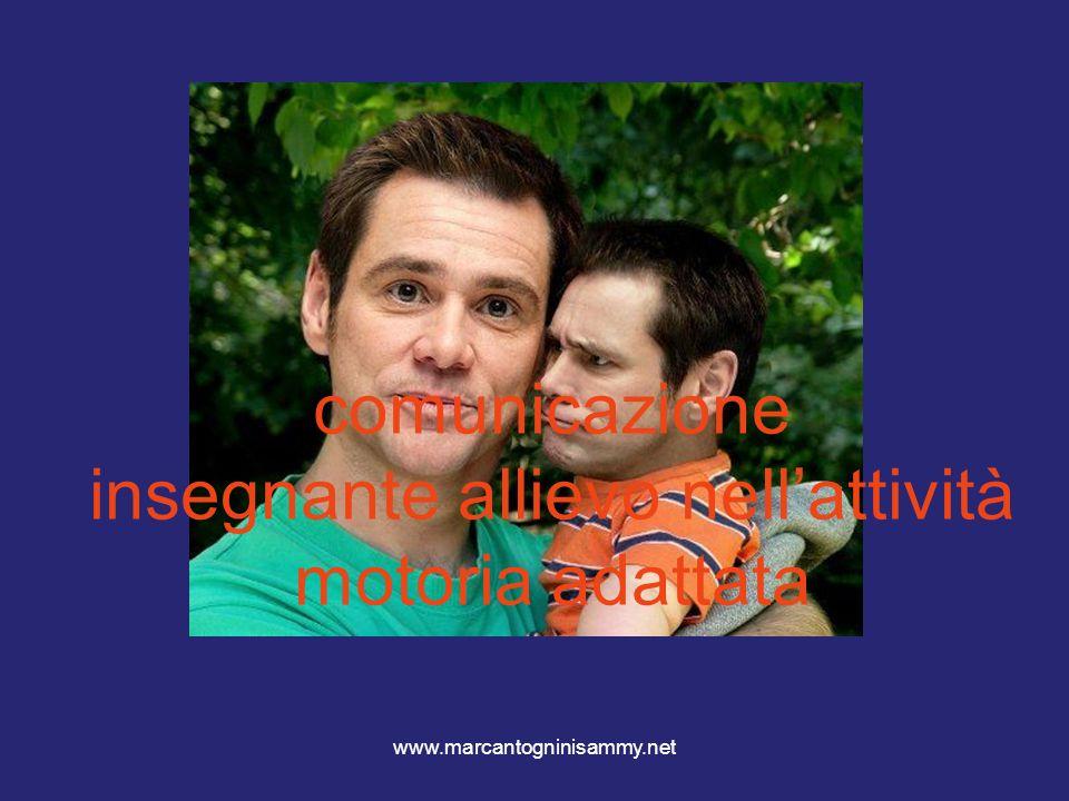 www.marcantogninisammy.net comunicazione insegnante allievo nellattività motoria adattata