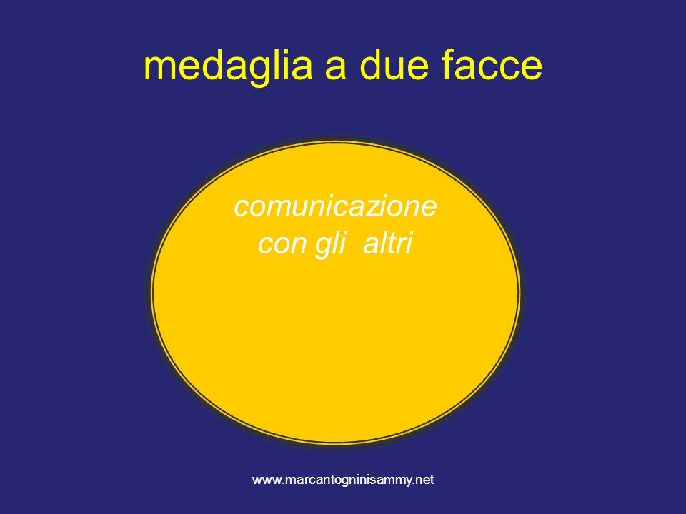 www.marcantogninisammy.net medaglia a due facce comunicazione con gli altri