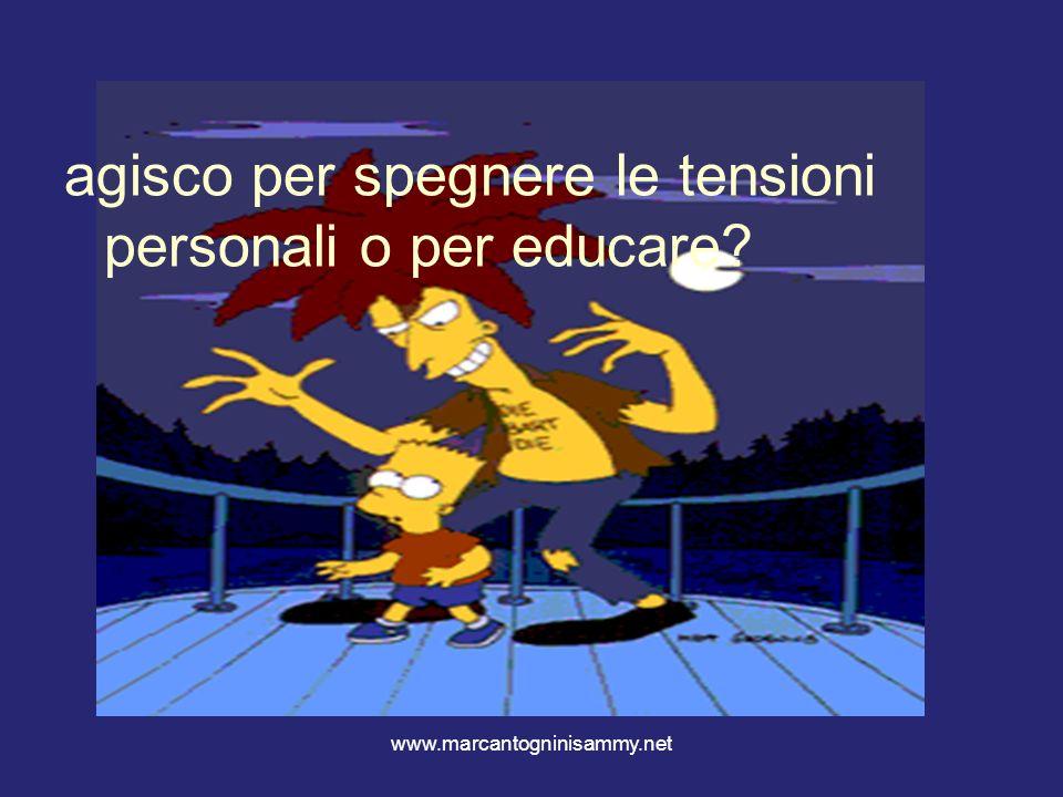 www.marcantogninisammy.net agisco per spegnere le tensioni personali o per educare?