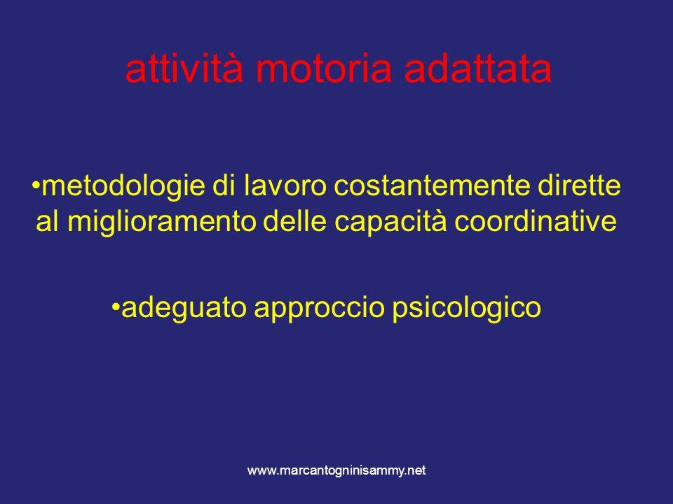 www.marcantogninisammy.net attività motoria adattata metodologie di lavoro costantemente dirette al miglioramento delle capacità coordinative adeguato