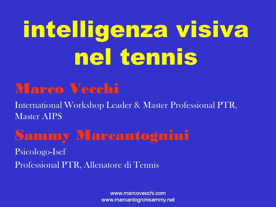 www.marcovecchi.com www.marcantogninisammy.net intelligenza visiva nei tennisti Questionario sulla vividezza della visualizzazione del movimento