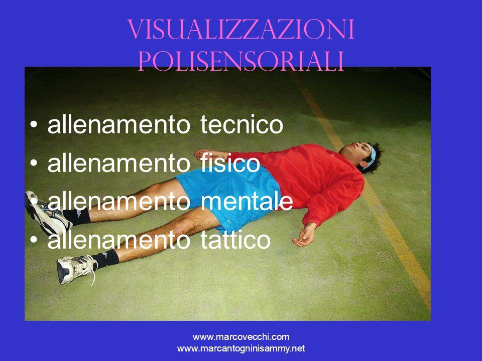 www.marcovecchi.com www.marcantogninisammy.net Visualizzazioni polisensoriali allenamento tecnico allenamento fisico allenamento mentale allenamento t