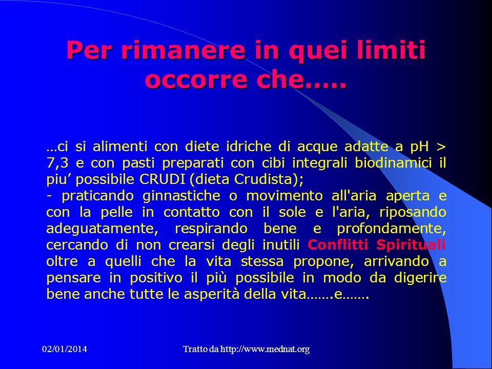 02/01/2014Tratto da http://www.mednat.org Per rimanere in quei limiti occorre che…..
