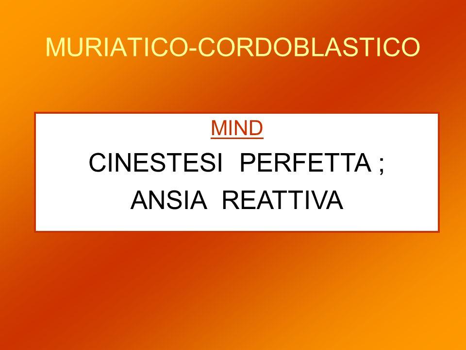 MURIATICO-CORDOBLASTICO MIND CINESTESI PERFETTA ; ANSIA REATTIVA