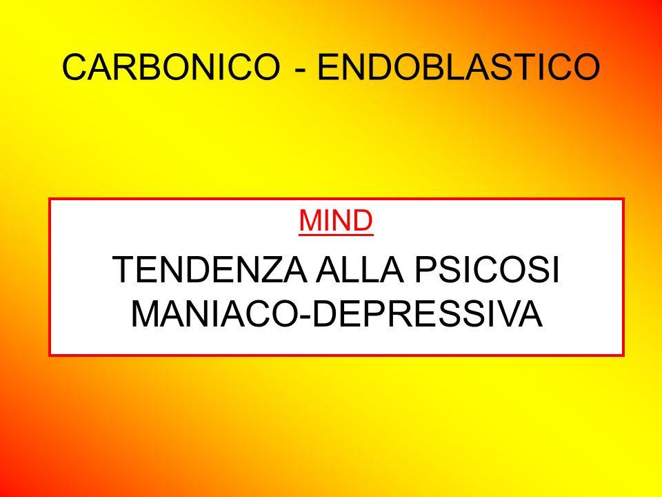 CARBONICO - ENDOBLASTICO MIND TENDENZA ALLA PSICOSI MANIACO-DEPRESSIVA