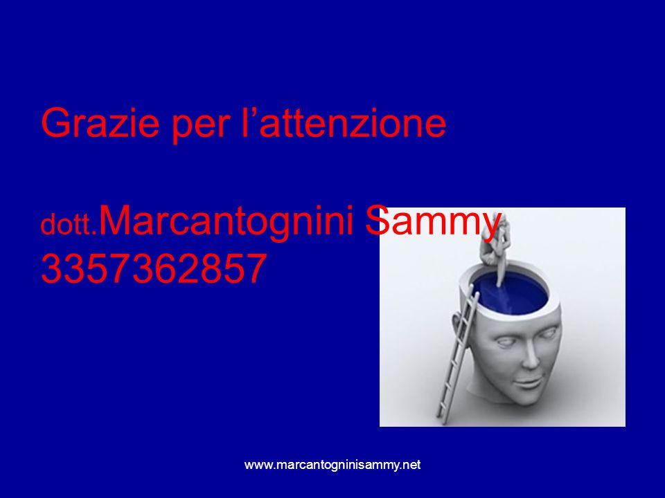 Grazie per lattenzione dott. Marcantognini Sammy 3357362857