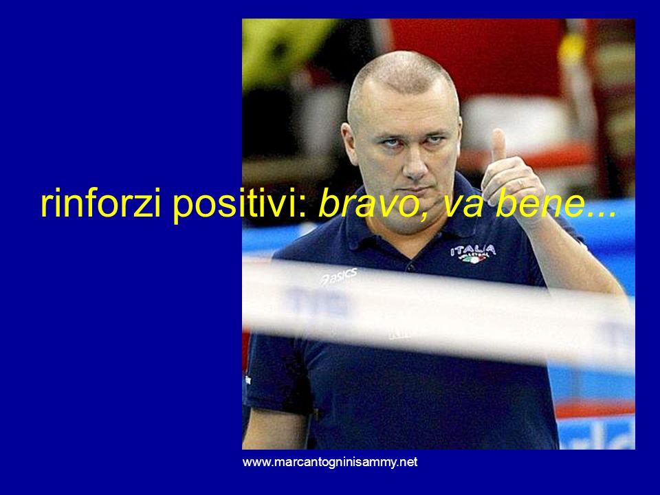 www.marcantogninisammy.net rinforzi positivi: bravo, va bene...