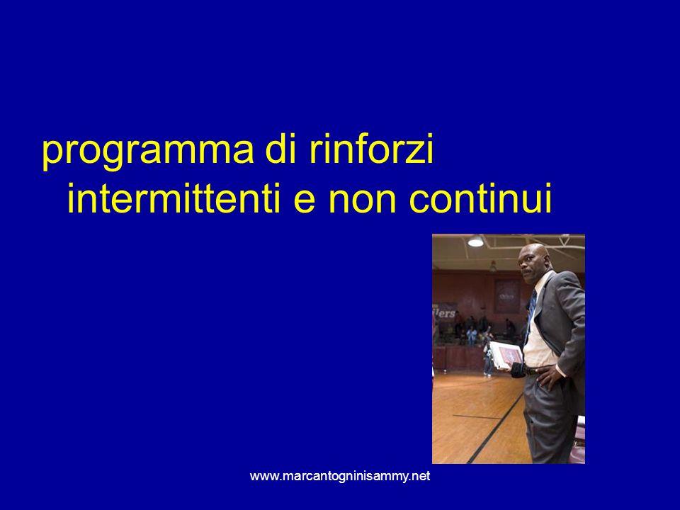www.marcantogninisammy.net programma di rinforzi intermittenti e non continui
