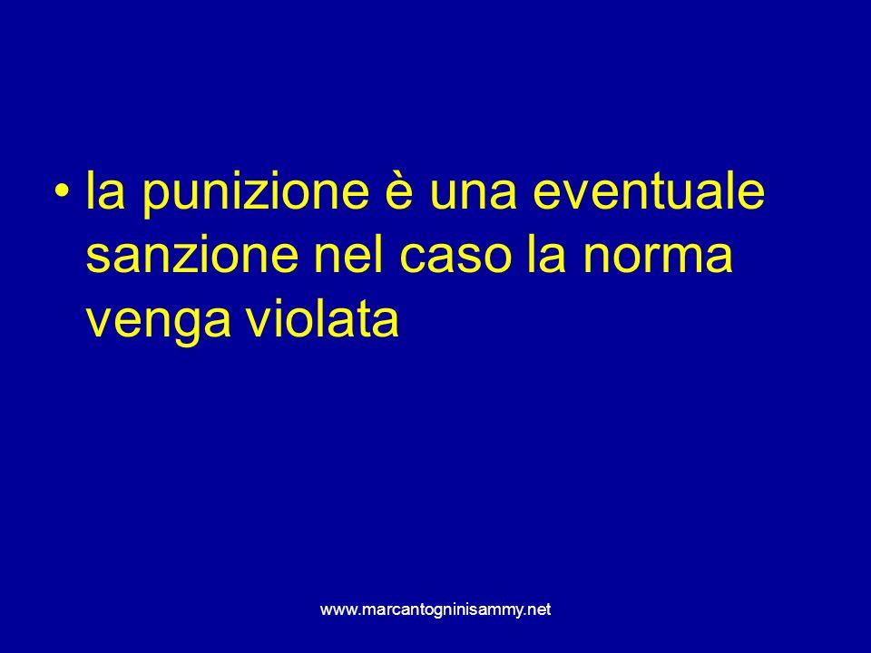 www.marcantogninisammy.net la punizione è una eventuale sanzione nel caso la norma venga violata