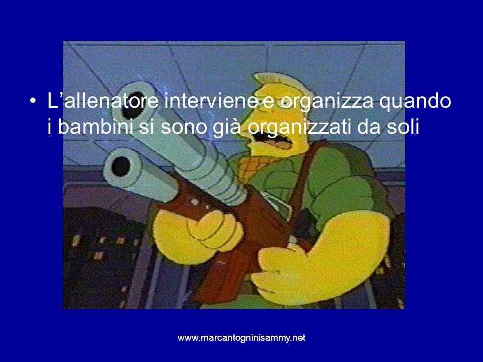 www.marcantogninisammy.net Lallenatore interviene e organizza quando i bambini si sono già organizzati da soli