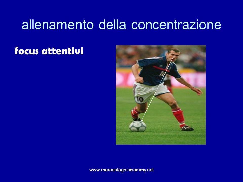 www.marcantogninisammy.net allenamento della concentrazione focus attentivi
