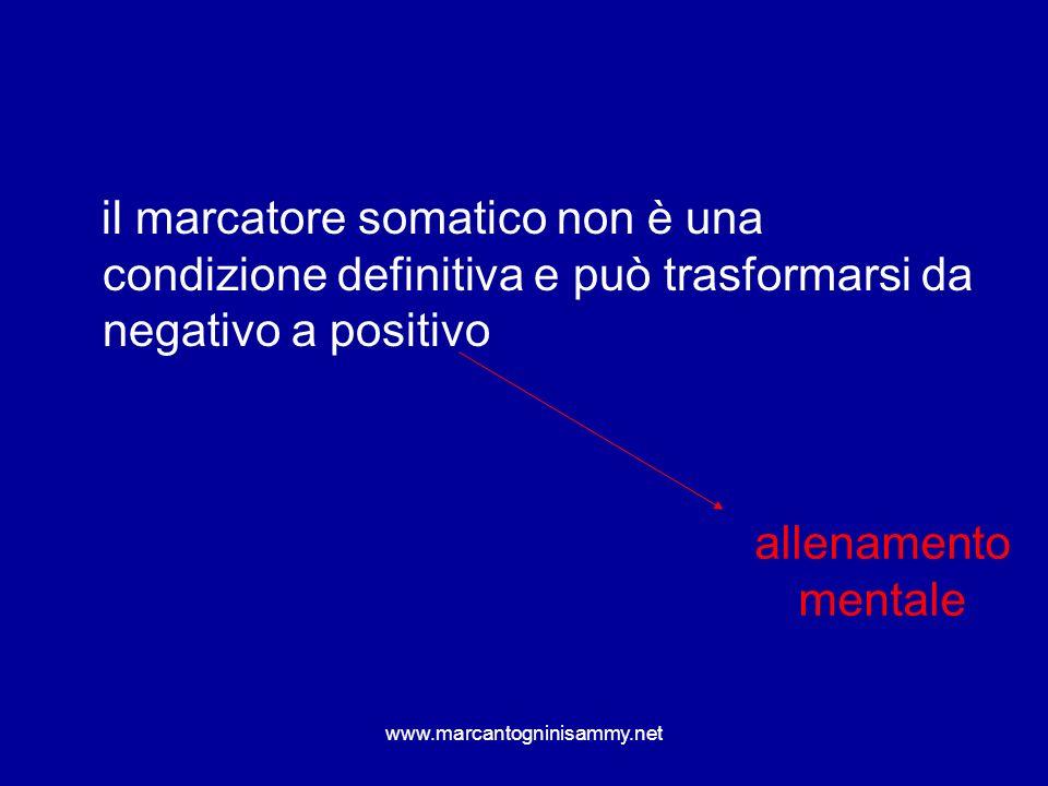 www.marcantogninisammy.net il marcatore somatico non è una condizione definitiva e può trasformarsi da negativo a positivo allenamento mentale