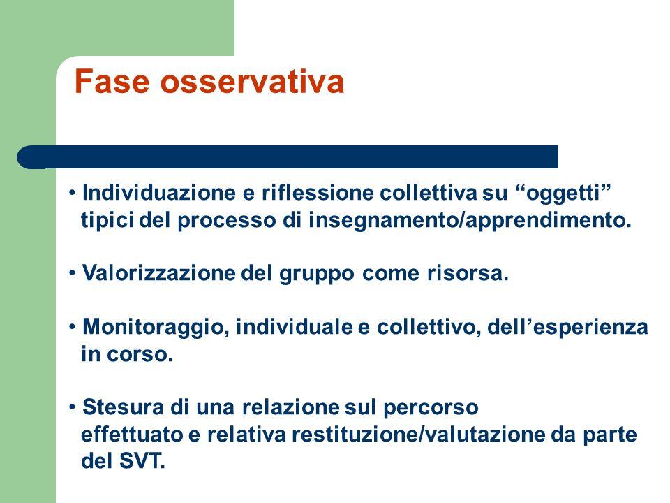 Individuazione e riflessione collettiva su oggetti tipici del processo di insegnamento/apprendimento.
