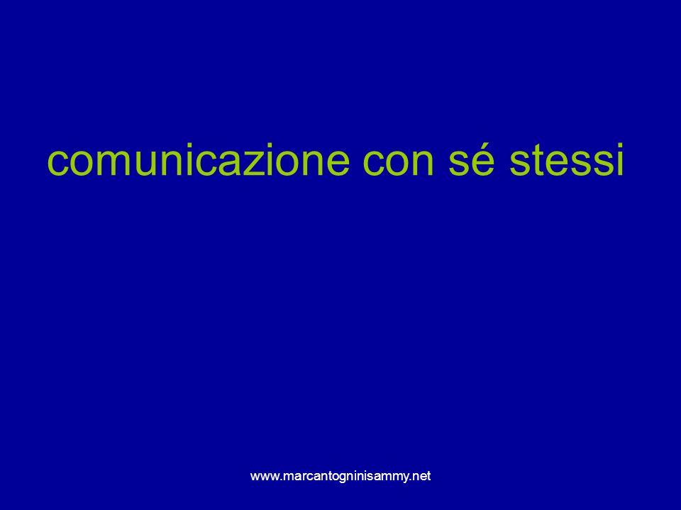 www.marcantogninisammy.net comunicazione con sé stessi