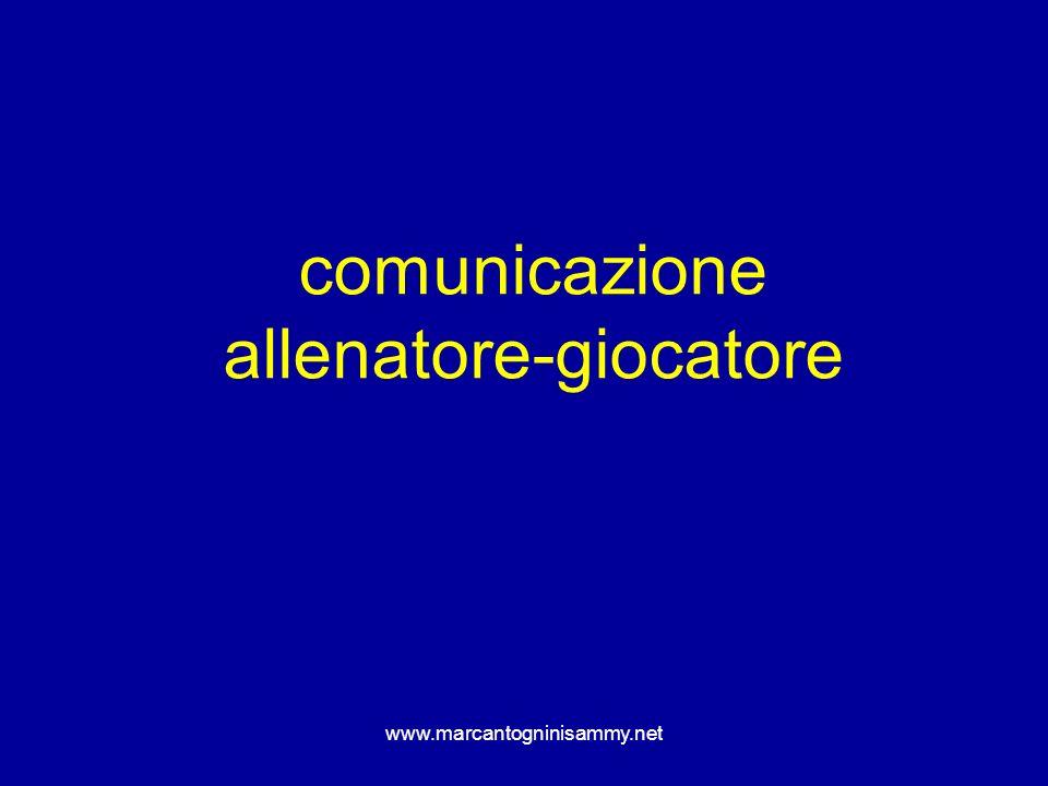 www.marcantogninisammy.net comunicazione allenatore-giocatore