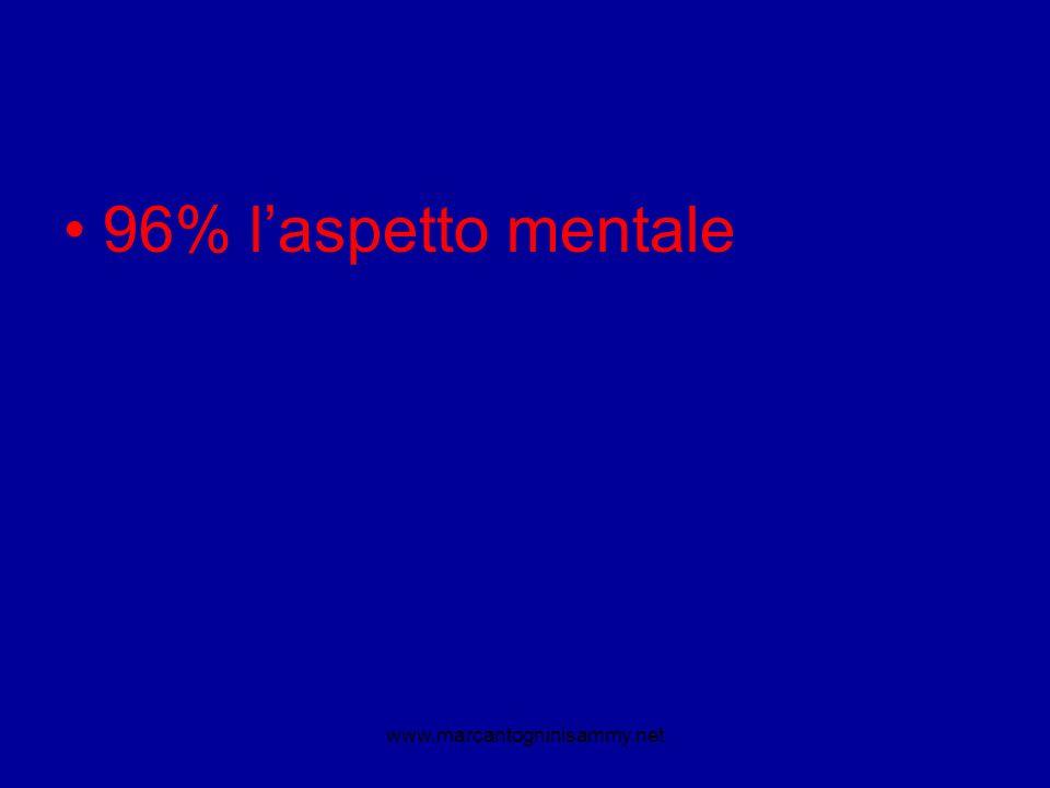 96% laspetto mentale www.marcantogninisammy.net