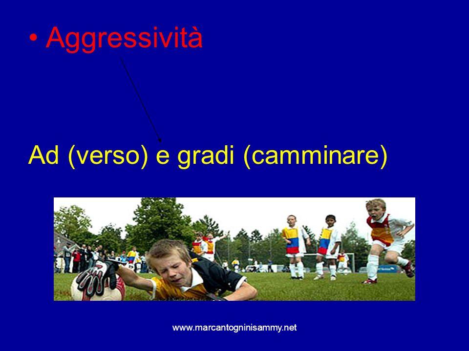 www.marcantogninisammy.net Aggressività Ad (verso) e gradi (camminare)