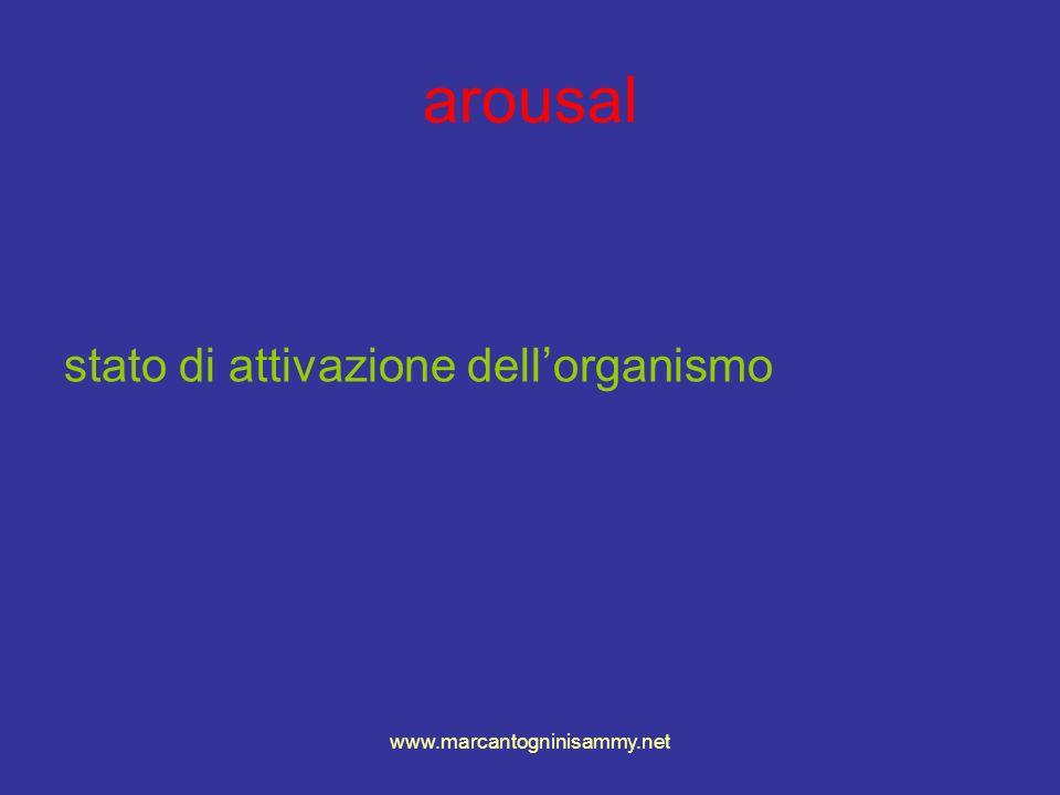 www.marcantogninisammy.net arousal stato di attivazione dellorganismo