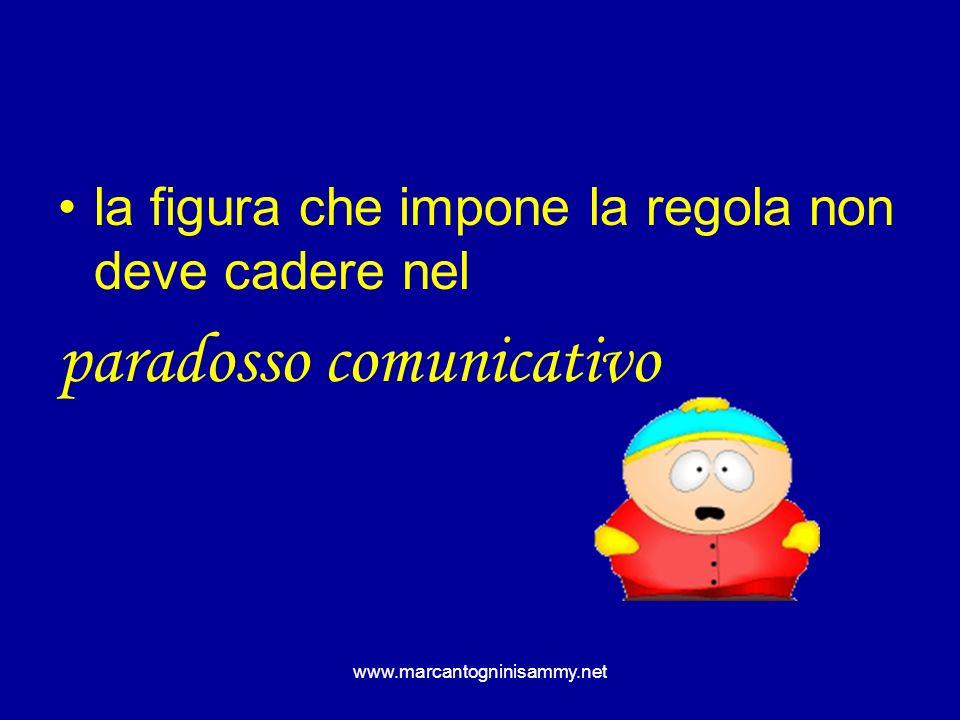 www.marcantogninisammy.net la figura che impone la regola non deve cadere nel paradosso comunicativo