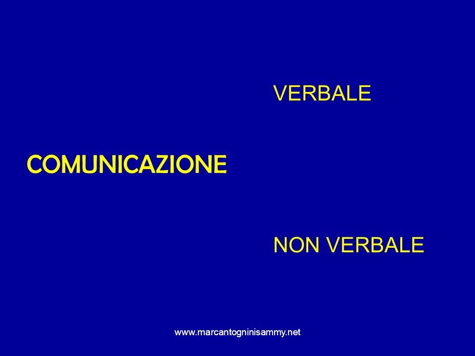 www.marcantogninisammy.net COMUNICAZIONE VERBALE NON VERBALE