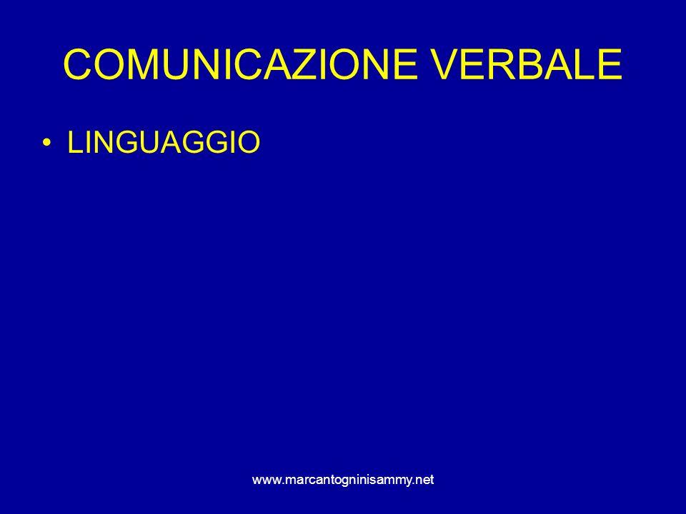 www.marcantogninisammy.net ESEMPI VERBALI sii spontaneo!!.