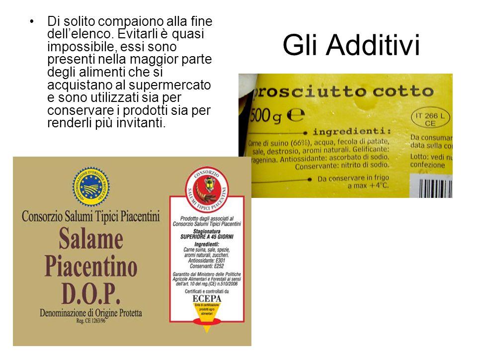 Acido alginico e arginati (da E400 ad E405) carragenine (E406, E407).