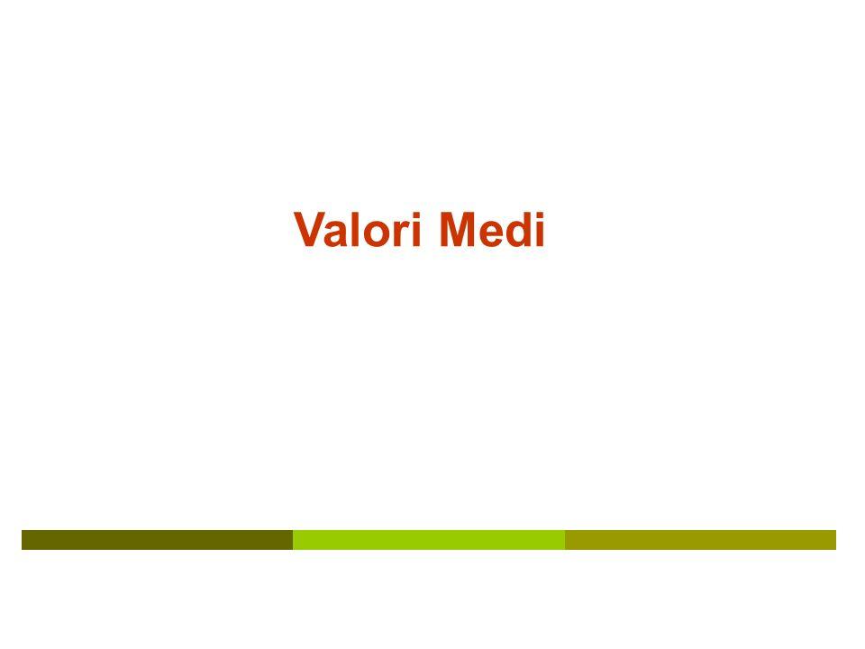 Valori Medi