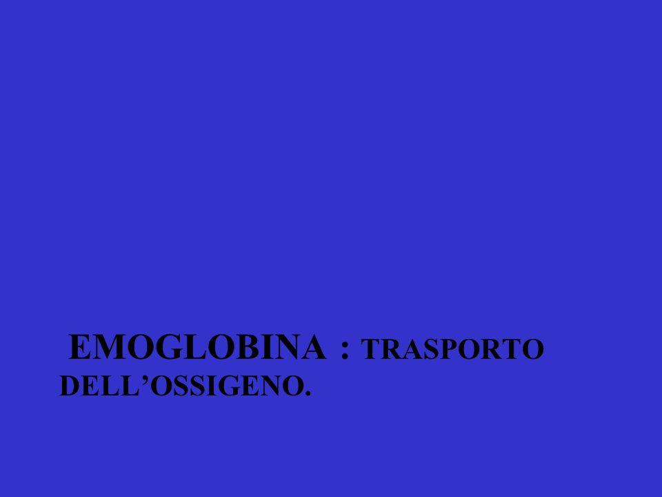 EMOGLOBINA : TRASPORTO DELLOSSIGENO.