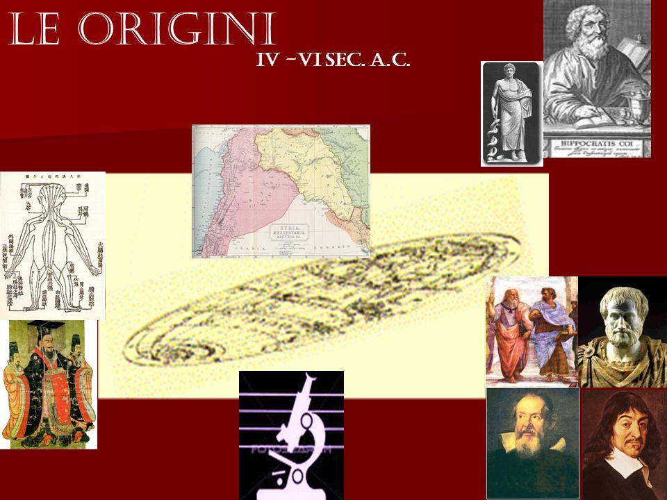 IV -VI Sec. a.C. Le Origini