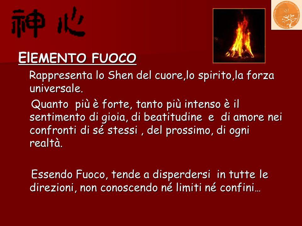 El EMENTO FUOCO Rappresenta lo Shen del cuore,lo spirito,la forza universale. Rappresenta lo Shen del cuore,lo spirito,la forza universale. Quanto più
