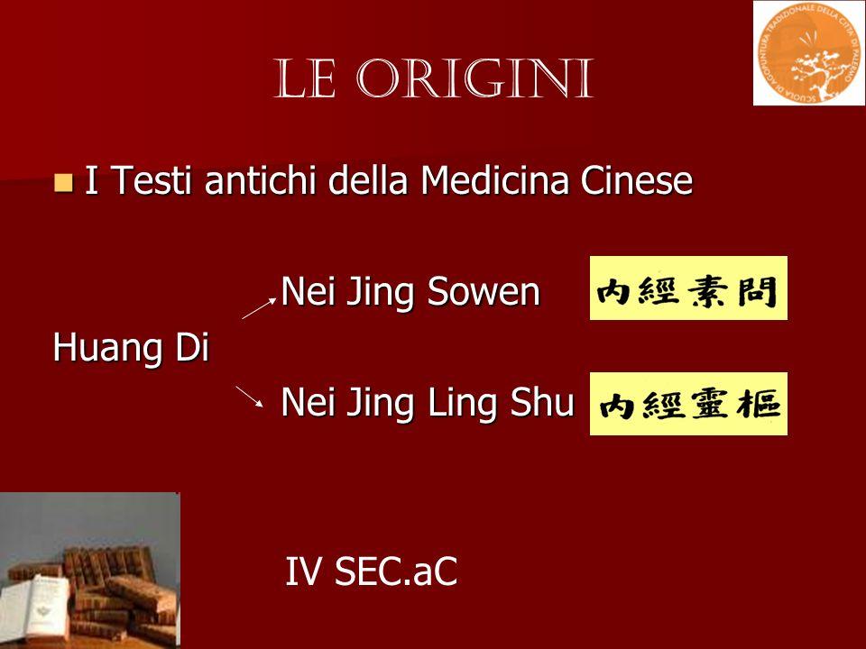 I Testi antichi della Medicina Cinese I Testi antichi della Medicina Cinese Nei Jing Sowen Nei Jing Sowen Huang Di Nei Jing Ling Shu Nei Jing Ling Shu