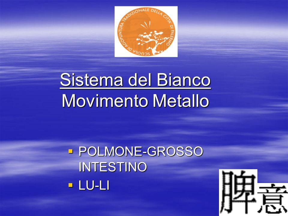 Sistema del Bianco Movimento Metallo POLMONE-GROSSO INTESTINO POLMONE-GROSSO INTESTINO LU-LI LU-LI
