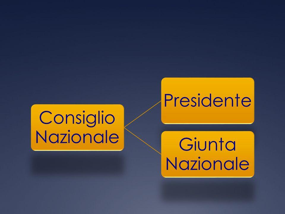 Consiglio Nazionale Presidente Giunta Nazionale