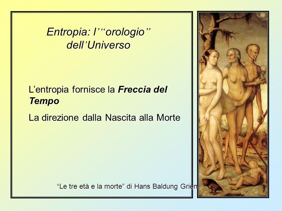 Entropia: l orologio dell Universo Lentropia fornisce la Freccia del Tempo La direzione dalla Nascita alla Morte Le tre età e la morte di Hans Baldung