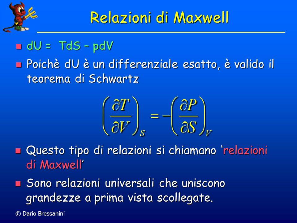 © Dario Bressanini Da questo possiamo dedurre che Da questo possiamo dedurre che Conseguenze Matematiche Sono relazioni importanti perchè permettono d