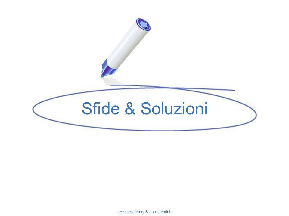 Sfide & Soluzioni -- ge proprietary & confidential --
