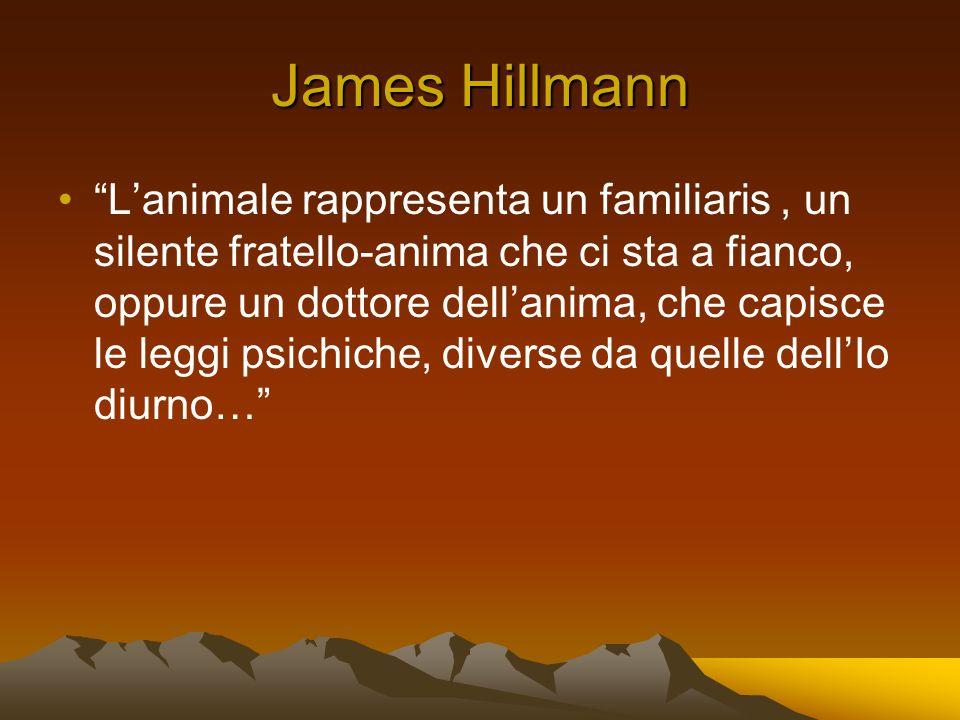 James Hillmann Lanimale rappresenta un familiaris, un silente fratello-anima che ci sta a fianco, oppure un dottore dellanima, che capisce le leggi psichiche, diverse da quelle dellIo diurno…