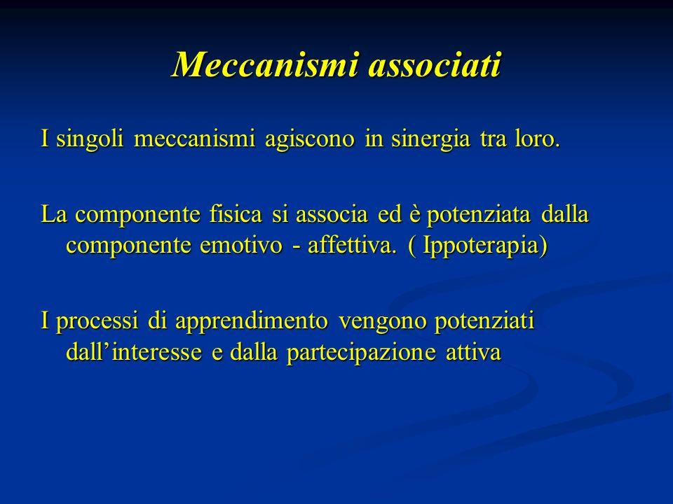 Meccanismi associati I singoli meccanismi agiscono in sinergia tra loro.