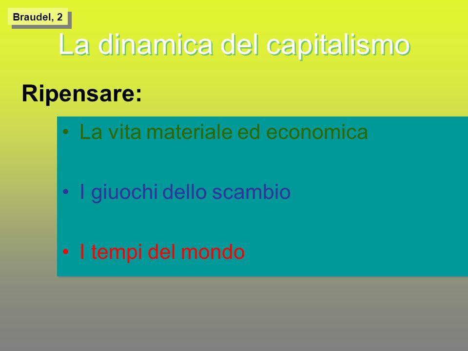 Capitale/capitalismoCapitale/capitalismo Scrive Braudel: se ho gettato nel dibattito il termine capitalismo, a proposito di unepoca in cui non gli si